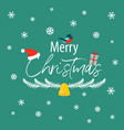 the inscription of a merry christmas with a vector image