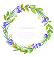 Watercolor floral invitation card vector image