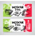 Mexican traditional food menu Hand drawn sketch  vector image