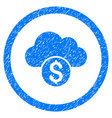 cloud banking rounded grainy icon vector image