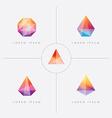 diamond prism logo icon shapes vector image