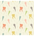 seamless light colorful teeth pattern vector image