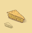 american apple pie vector image