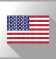 American flag in poly art design vector image