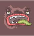 cartoon monster face halloween vector image