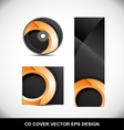 Cd Dvd cover design orange circle vector image