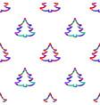 digital blue happy new year vector image