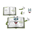 Geometry happy textbook cartoon character vector image