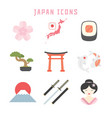 japan icons vector image