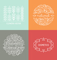 organic labels vector image