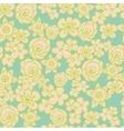 Ornate floral endless blue pattern vector image