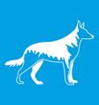 shepherd dog icon white vector image