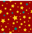 Yellow Green Stars Red Background vector image
