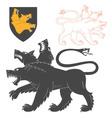 Black Cerberus vector image vector image
