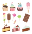 Sweets set isolated on white vector image