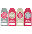 Christmas labels with stars and snowflakes vector image