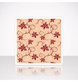 Card with Floral Seamless Pattern vector image
