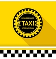 Taxi badge 16 vector image vector image