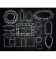 Chalkboard doodle frames set vector image