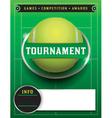 Tennis Tournament Template vector image vector image