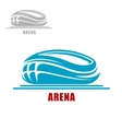 Sports arena or stadium icon vector image