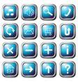 aqua square buttons vector image