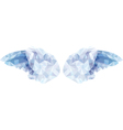 angel wings in the style of low poly vector image vector image