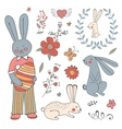 Beautiful collection of easter related graphic vector
