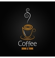 coffee cup abstract ornate design background vector image