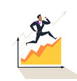 business success concept in flat design vector image