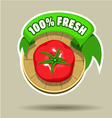 Fresh tomato sticker vector image