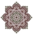 henna tattoo design mandala vector image