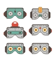 Robot masks collection vector image