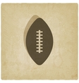 sport football logo old background vector image