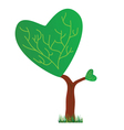 tree with a crown in the shape of heart vector image