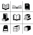 Book design elements vector image