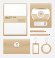 stationary brown paper vector image vector image