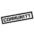 Community rubber stamp vector image