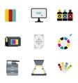 Printer icons set flat style vector image