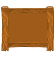 Light brown wooden frame on white background vector image