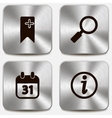 Set of web icons on metallic buttons vol3 vector image vector image