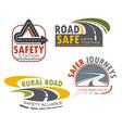 road highway sign for transportation theme design vector image