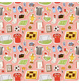 soccer icons seamless pattern vector image vector image