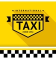Taxi badge 17 vector image