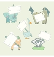 Hand-drawn cartoon collection of animals vector image
