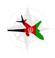air in afghanistan vector image