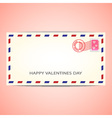 air mail envelope for valentines day vector image vector image