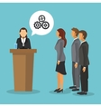 Businesspeople icon design vector image