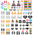 icons sexual minorities gays and lesbians vector image