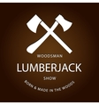 Card of vintage lumberjack label emblem and design vector image